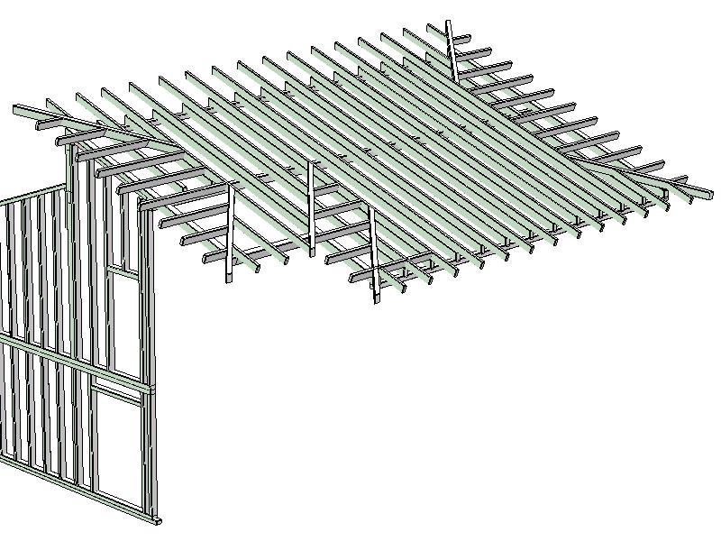 zimmerer software beispiel eines pultdachs. Black Bedroom Furniture Sets. Home Design Ideas